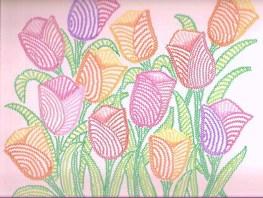 tulipanes en zigzag