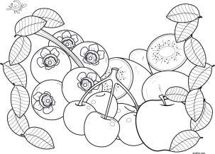dibujo de frutas